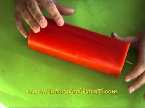 *Paint a Candle* Tutorial Como Pintar Velas 1 - Pintura Facil Para Ti.wmv - YouTube