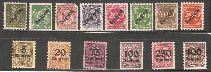 Deutsches Reich German Stamps Dienstmarke