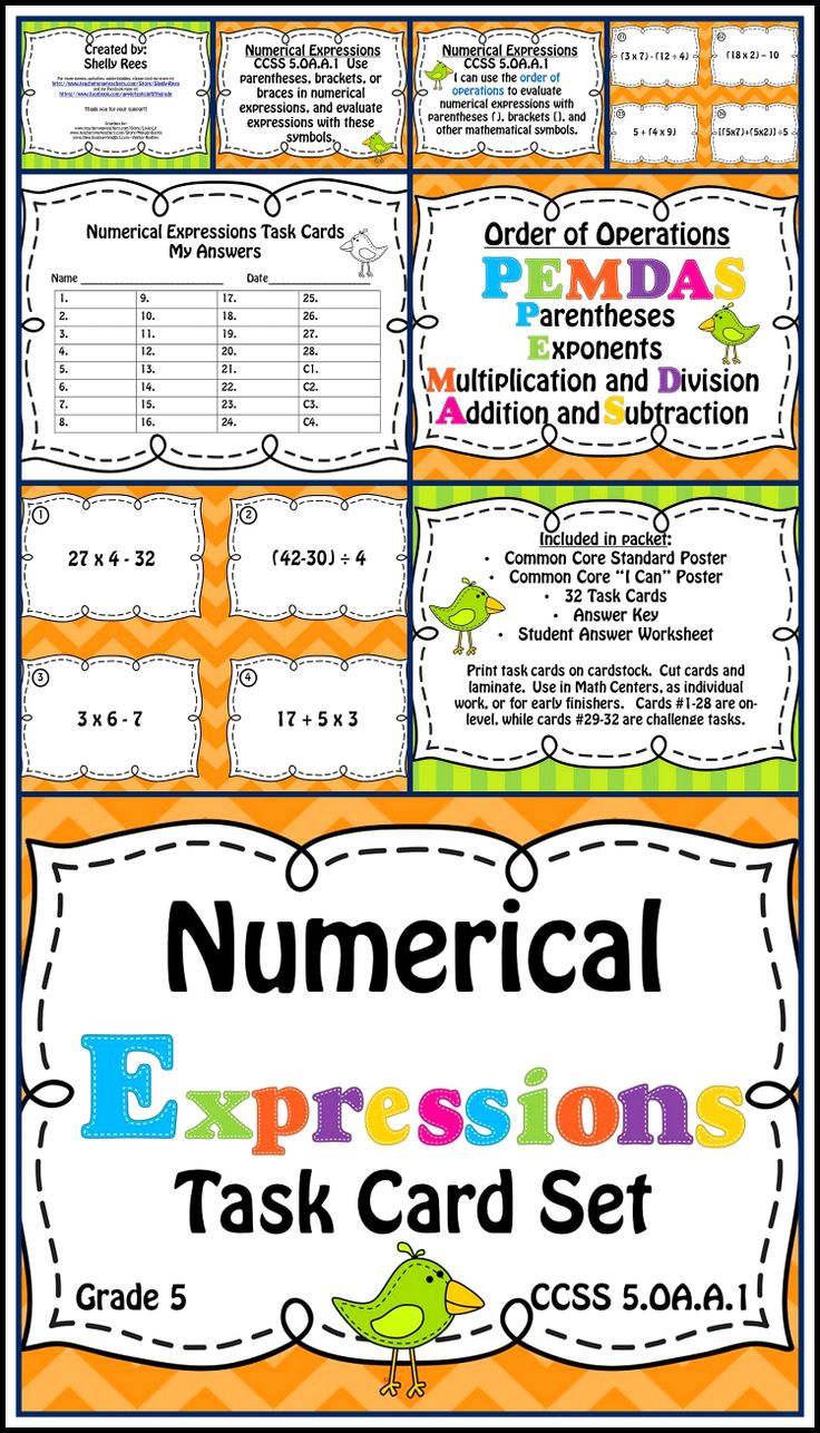 worksheet Pemdas 83 best order of operations images on pinterest school teaching numerical expressions and task card poster set includes common core posters