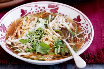 Keep winter at bay with a bowl of hot Chinese chicken noodle soup. Perfect cool weather comfort food!