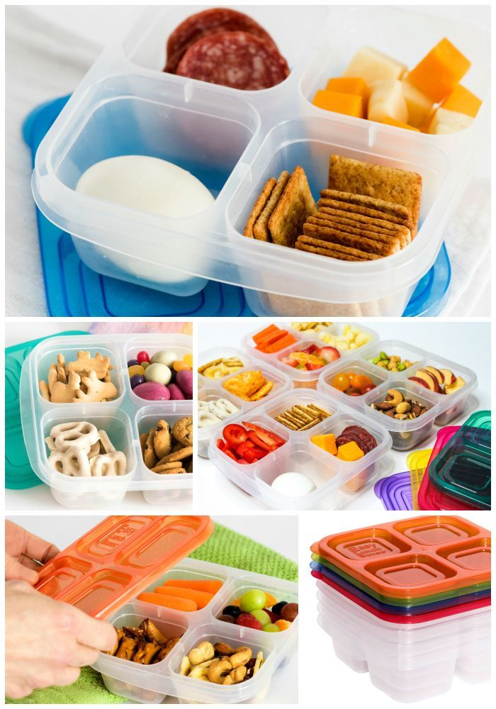 4 Compartment Snack Box Containers By Com Imagens Lanches Para