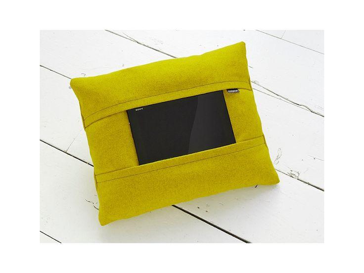 Tablet pillow yellow