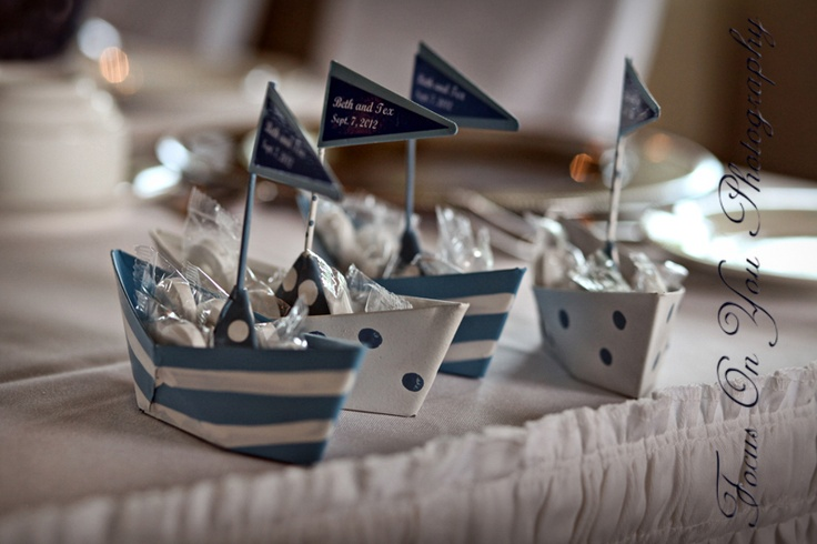 Cool Nautical Themed Wedding Favours Christening