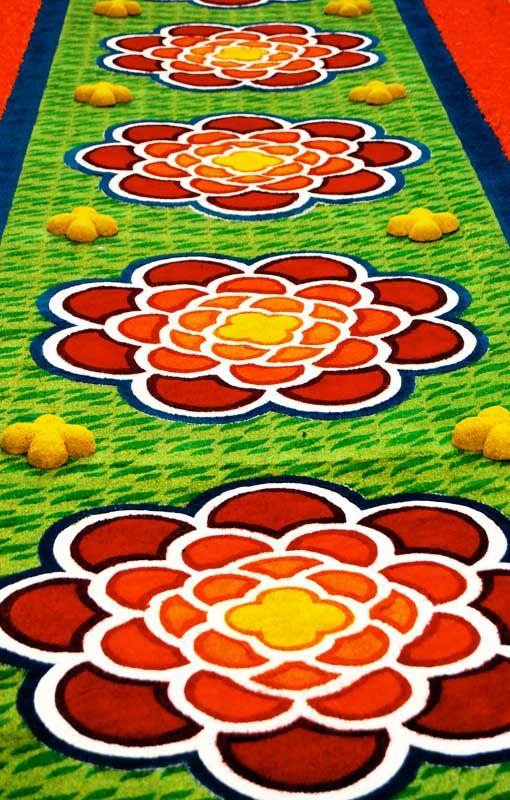 Mejores 49 im genes de alfombras de flores naturales en - Alfombras sierra ...