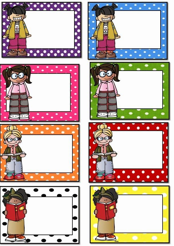 Polka Dot Student Labels Free!