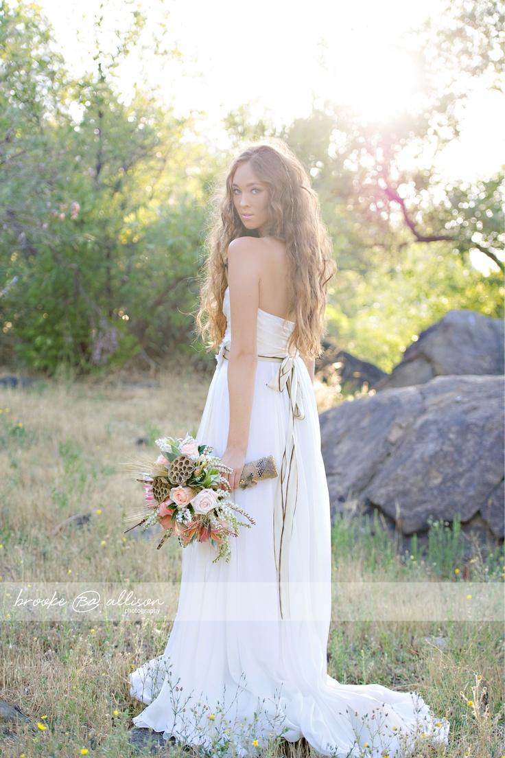 bohemian wedding & bohemian wedding dress & Pocahontas wedding inspiration