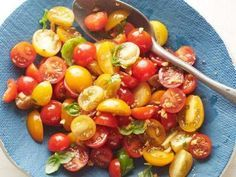 """Tomato Basil Salad (Moving Cattle) - """"The Pioneer Woman"""", Ree Drummond on the Food Network."""