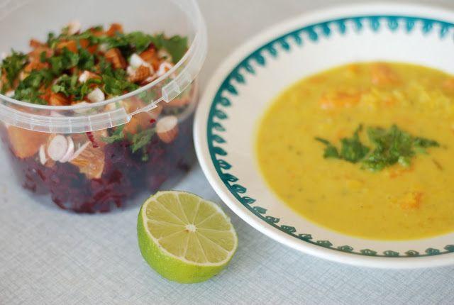 Suppe med gule linser, søtpotet og fennikel + salatoppskrifter