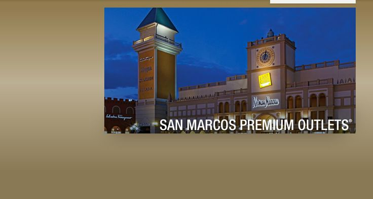 San Marcos Outlets - J.Crew, Tory Burch, Pottery Barn, William Sonoma, etc. For those of you who may like these things....it's really near by....
