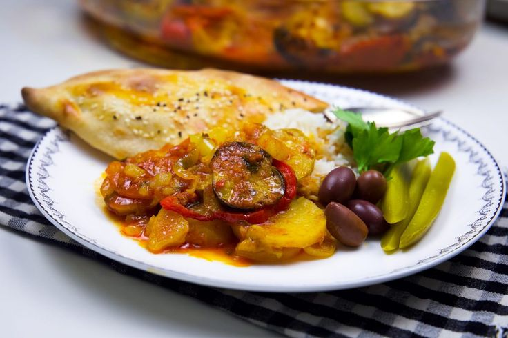 Vegetarisk tapsi- Kurdisk auberginegryta