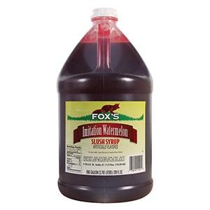 Fox's Watermelon Slushy and Granita Syrup 4 - 1 Gallon Containers / CS