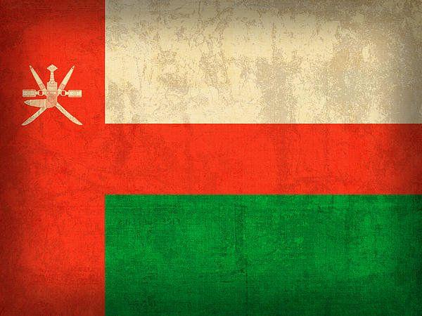 Oman Flag Vintage Distressed Finish Print By Design Turnpike