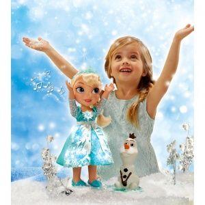 JAKKS PACIFIC FROZEN KRAINA LODU INTERAKTYWNA LALKA SNOW GLOW ELSA Z OLAFEM 31058