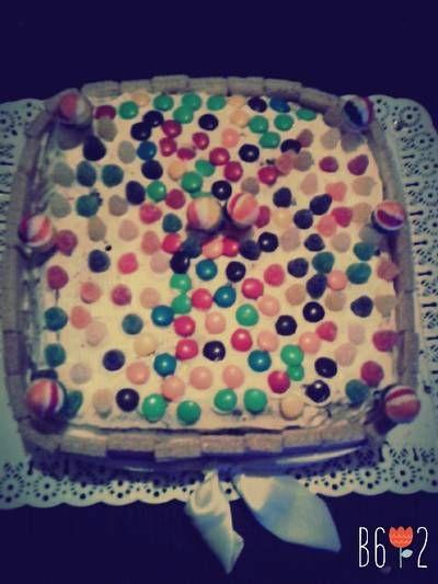 Torta de cumpleaños fácil y rica :)