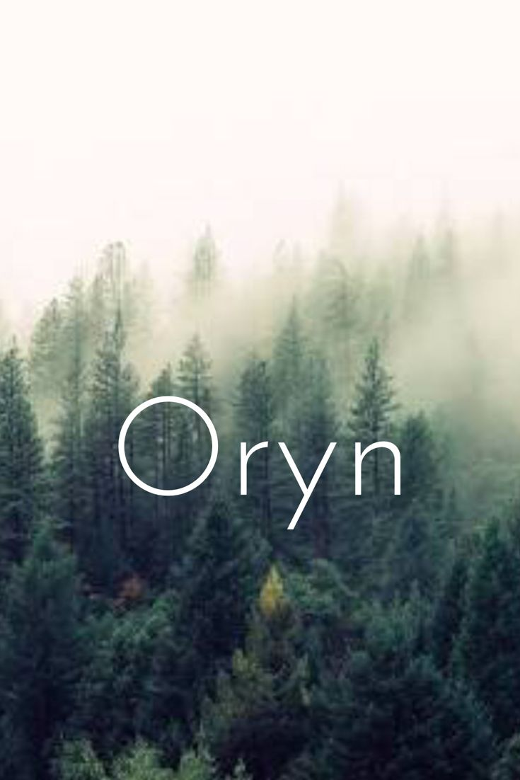 Oryn. Celtic baby boy name meaning golden