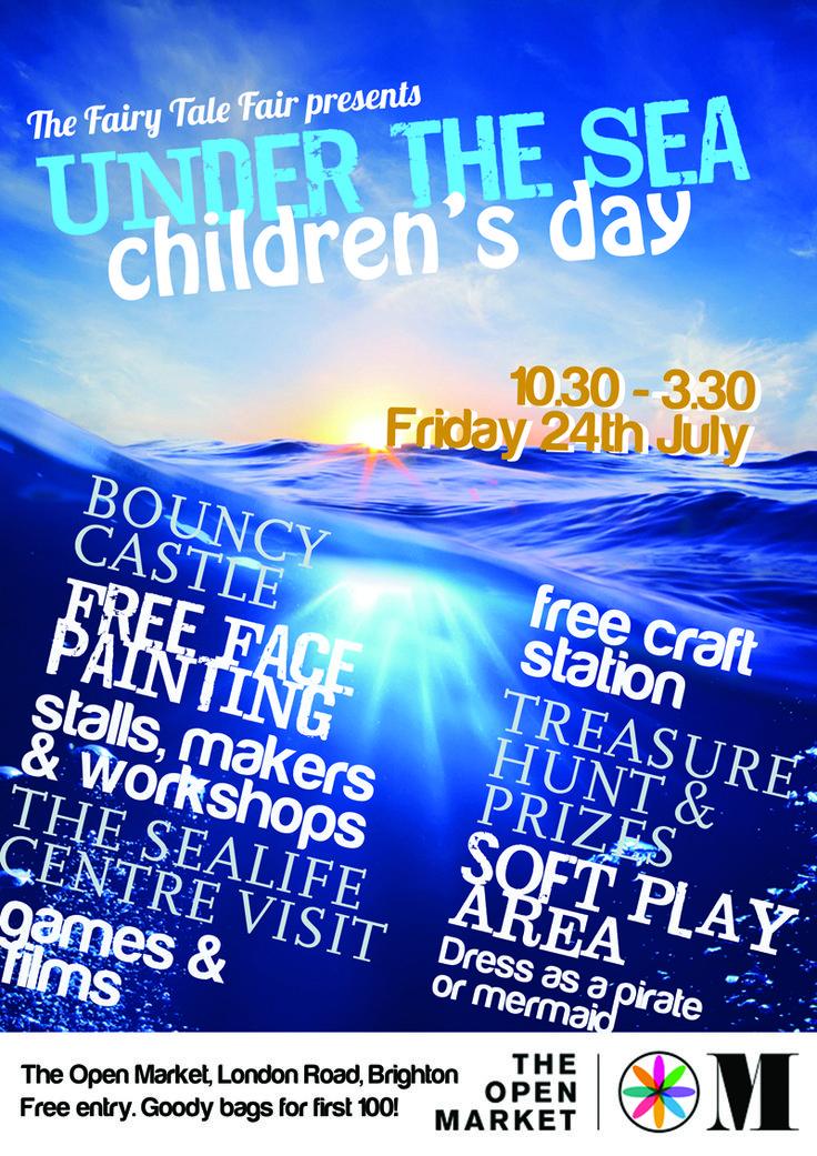 Under the Sea Children's Day BrightonOpenMarket #Brighton.  Bouncy castles and other fun things! http://www.childfriendlybrighton.co.uk/event/under-the-sea-childrens-day-open-market?utm_content=buffer16461&utm_medium=social&utm_source=pinterest.com&utm_campaign=buffer