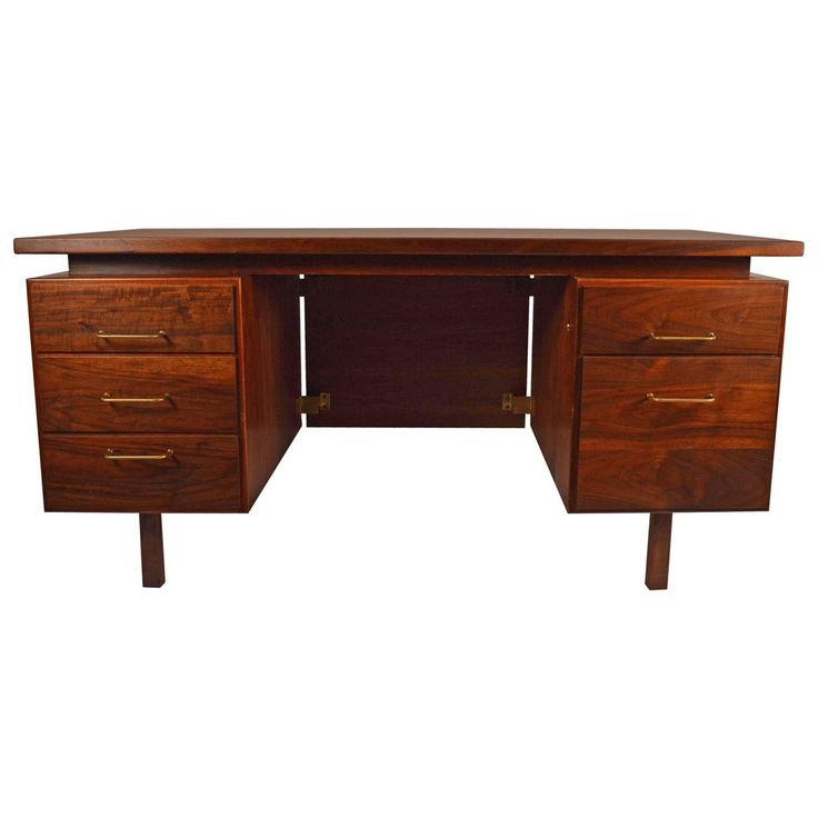 Large Desk by Risom | See more antique and modern Desks at https://www.1stdibs.com/furniture/storage-case-pieces/desks