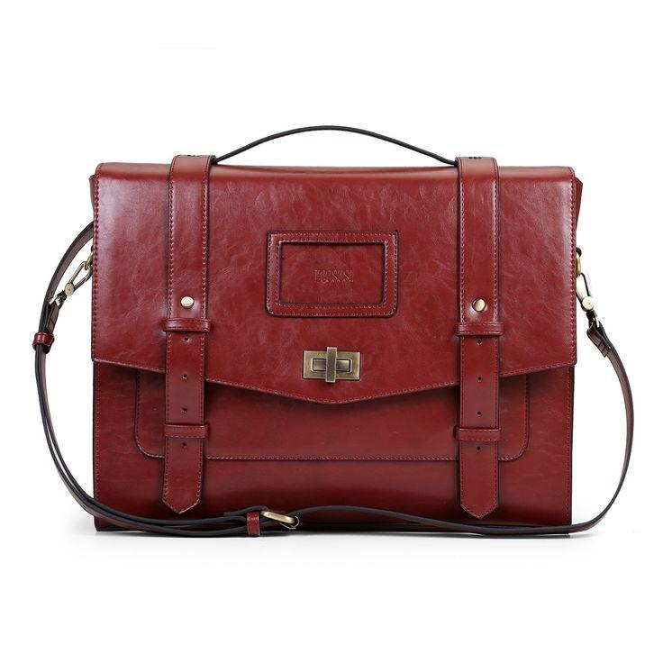 Ladies Faux Leather Briefcase Shoulder Laptop Messenger Bags Satchel Bag Cambridge Backpack Fit 14 inch Laptop