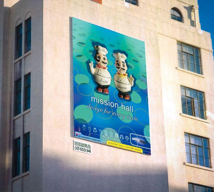 Billboard design – Design for Every Taste. Mission Hall Wellington New Zealand