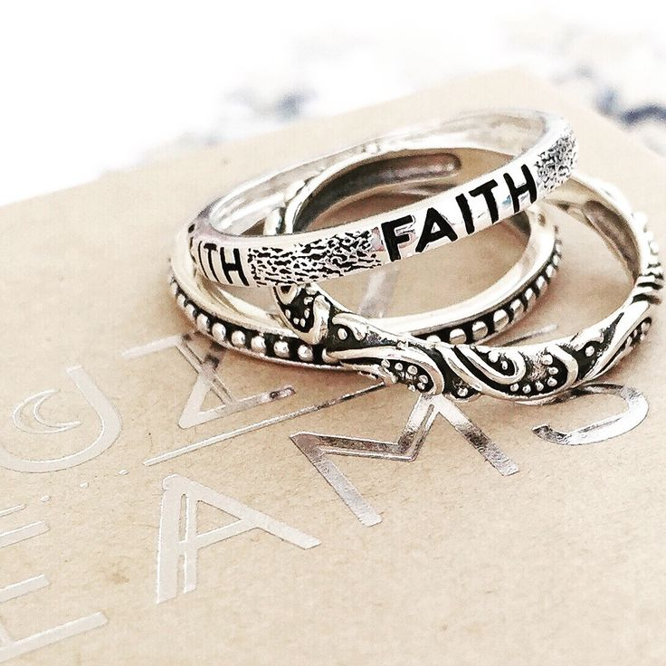 Faith Sterling Silver Ring