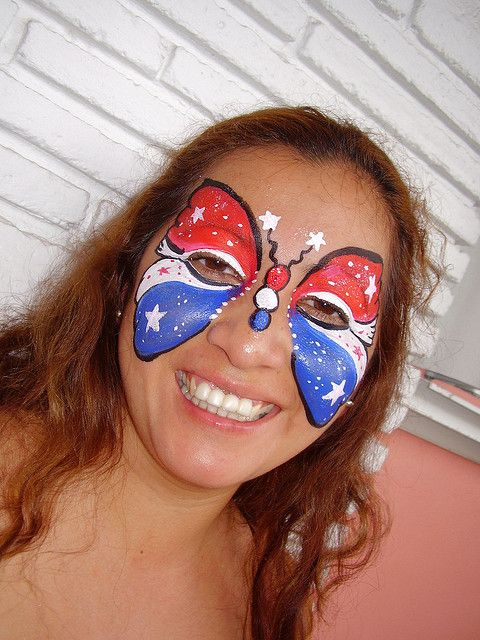 4th of july painted faces | July 4th Butterfly | Flickr - Photo Sharing!