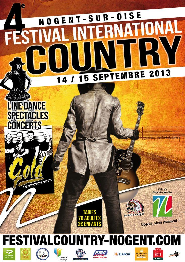 Festival international de Country. Du 14 au 15 septembre 2013 à Nogent sur Oise.