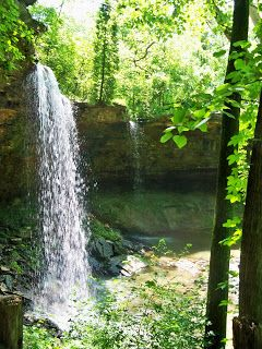 Things to do in Dayton Ohio: Charleston Falls Preserve. A large, gorgeous park with a 37 foot waterfall, woods, gazebo, bridges, stepping stones, overlooks, hiking trails, ponds, rivers, and prairies. Fun any time of the year, but especially during winter!