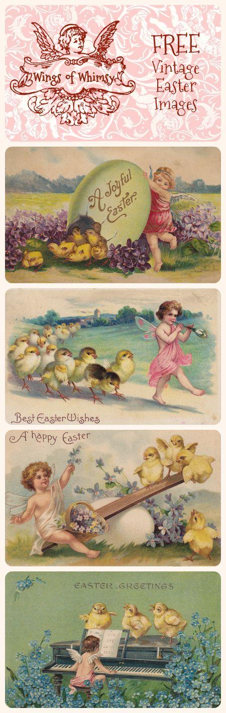 Wings of Whimsy: Vintage Easter Cherubs