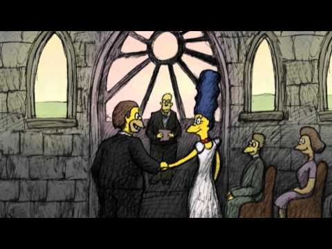 "THE SIMPSONS - Bill Plympton Couch Gag from ""Beware My Cheating Bart"""