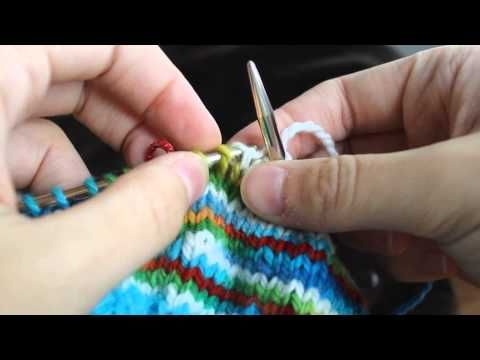 ▶ NEW Knitting Short Rows with No Holes (in the round) - YouTube
