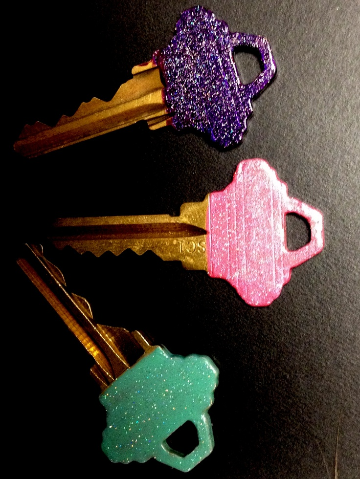 Glitter keys! Click for tutorial!