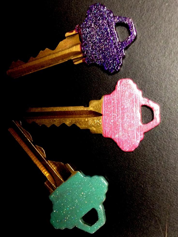 Glitter keys! Click for tutorial!