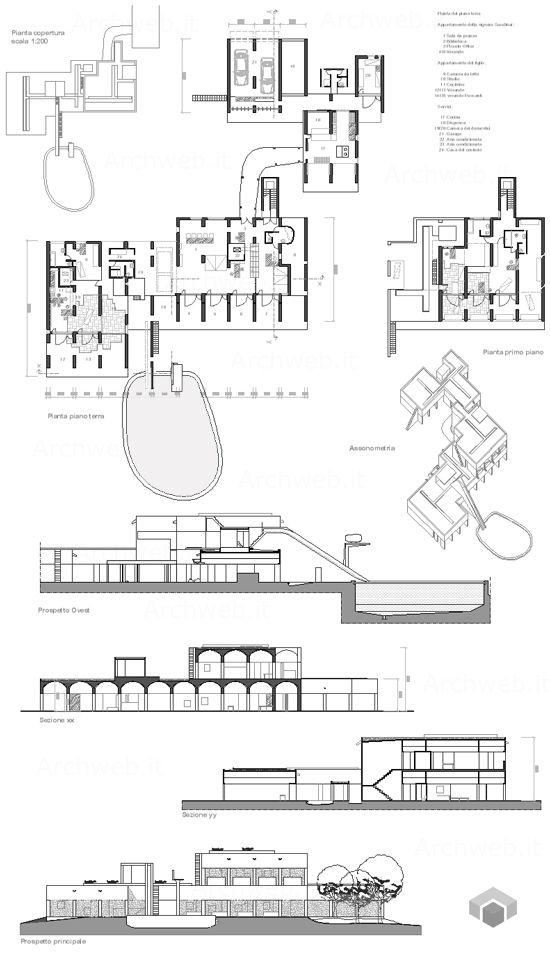 sarabhai house le corbusier cross section - Google Search