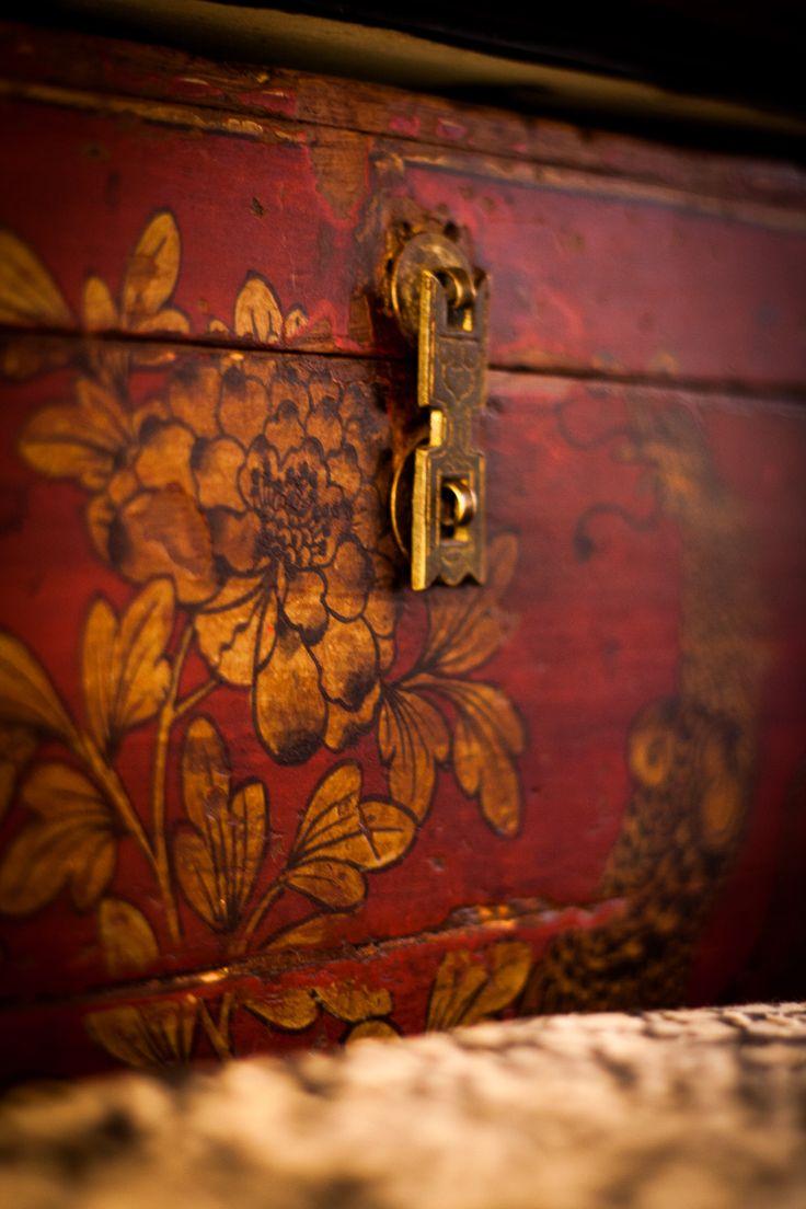 Antique Chinese storage box.