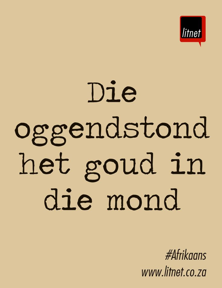#Afrikaans #idiome #segoed