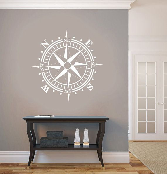 Compass Rose Removable Wall Art Vinyl Dinning by AmericanDecals, $22.99