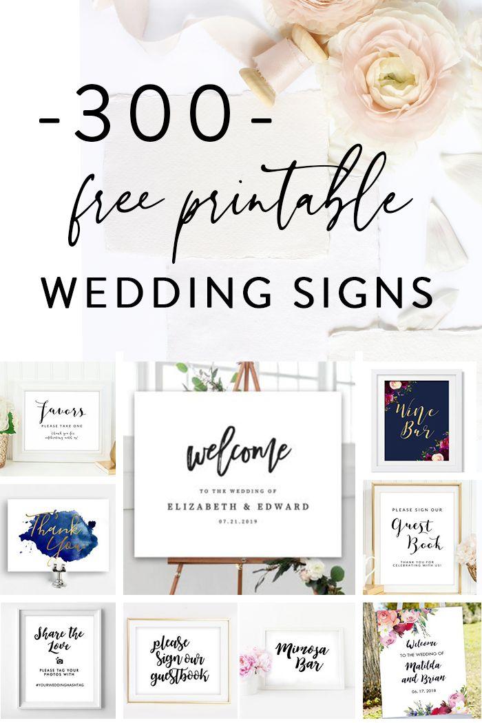 Free Printable Wedding Signs Free Printable Wedding Invitations Free Wedding Printables Wedding Signs Diy