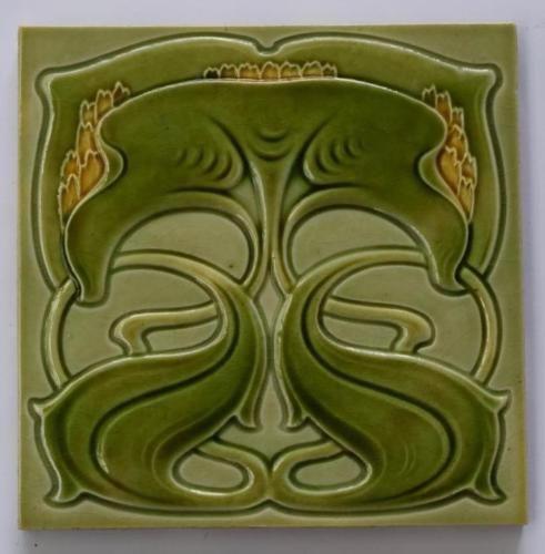 Antique-Art-Nouveau-Tile-c1905