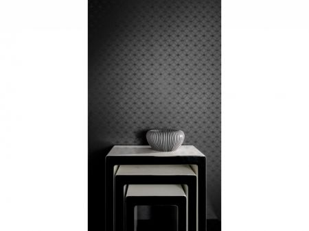 Arthouse Orion Black Metallic Patterned Wallpaper - Free Delivery