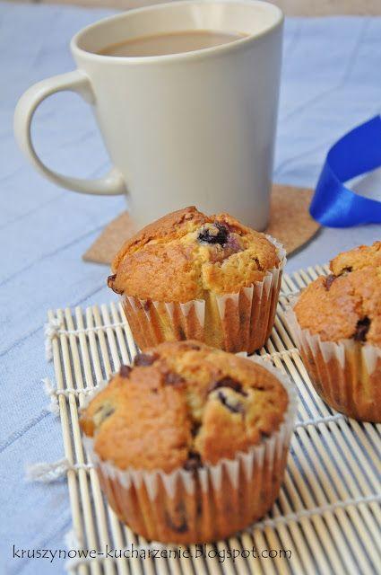 Kruszynowe kucharzenie...: Muffinki z borówkami i czekoladą