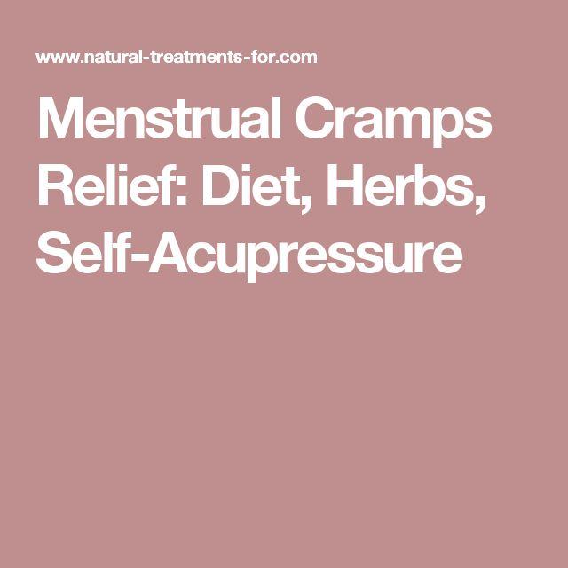 Menstrual Cramps Relief: Diet, Herbs, Self-Acupressure