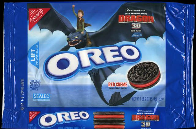 Nabisco - Oreo How to Train Your Dragon red creme cookies package - 2010