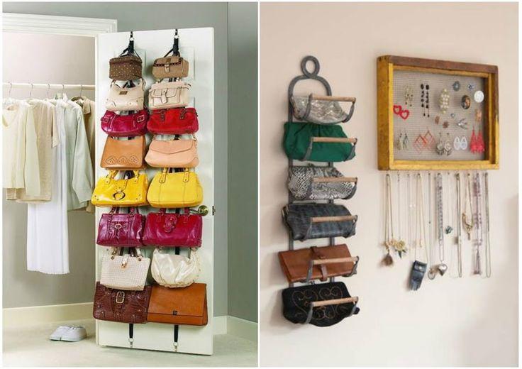 10 maneras ingeniosas de cómo organizar bolsos y carteras en casa | Manualidades
