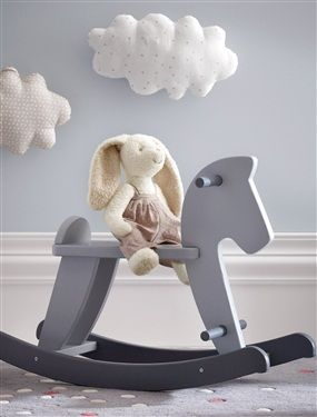 Love the puff clouds on the wall - Baby boy nursery ideas