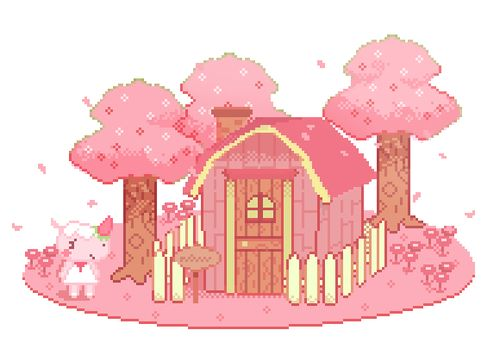 I made a small merengue, and tried to animate it too ... - Pixel Art Animal Crossing