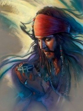 Cptn Jack Sparrow #disney fine art