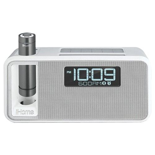 Ihome Dual-charging Bluetooth Stereo Alarm Clock Radio And Speakerphone With Nfc & Removable Power (white)