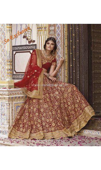 lehenga mari e ashwini rouge robe indienne haute couture On robes de mariée indienne new jersey