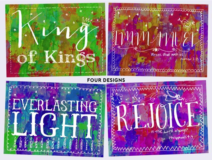 Bright Blessings Tearfund Charity Christmas Cards