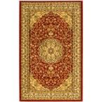 Lyndhurst Red/Ivory 3 ft. 3 in. x 5 ft. 3 in. Area Rug